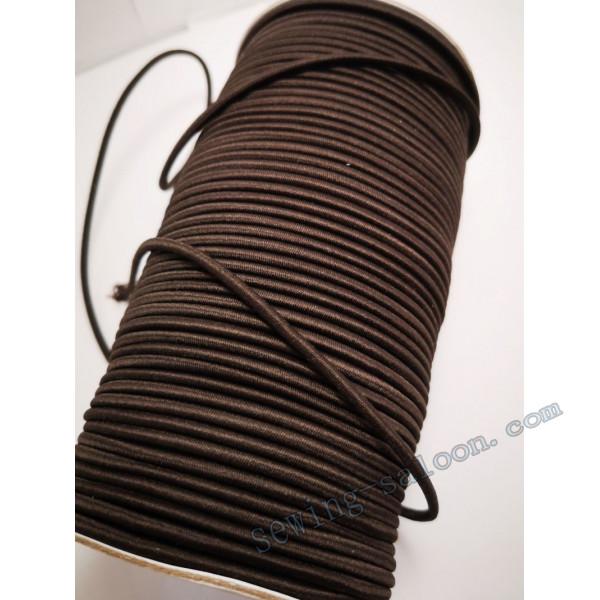 Резинка  шляпная цвет коричневый 1м