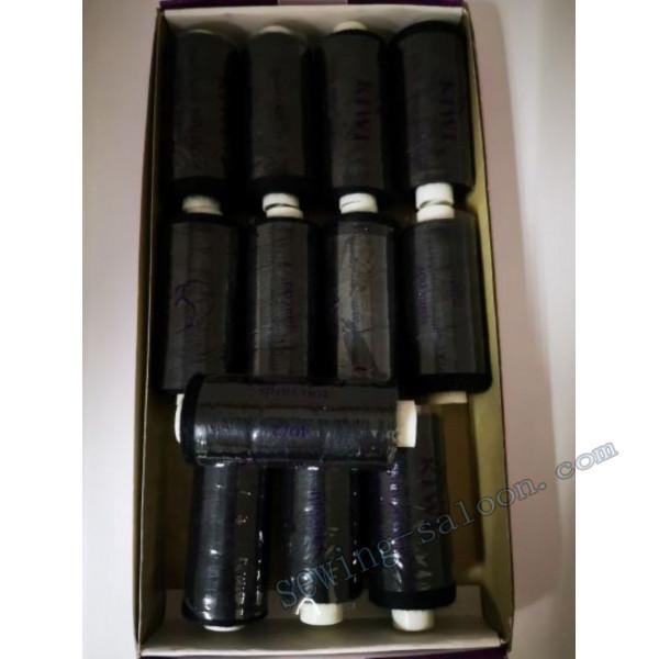 Нитки швейные KIWI 40/2  цвет черный