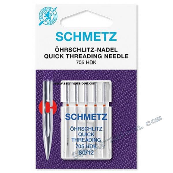 Иглы Schmetz легковдеваемые 705 HDK №80