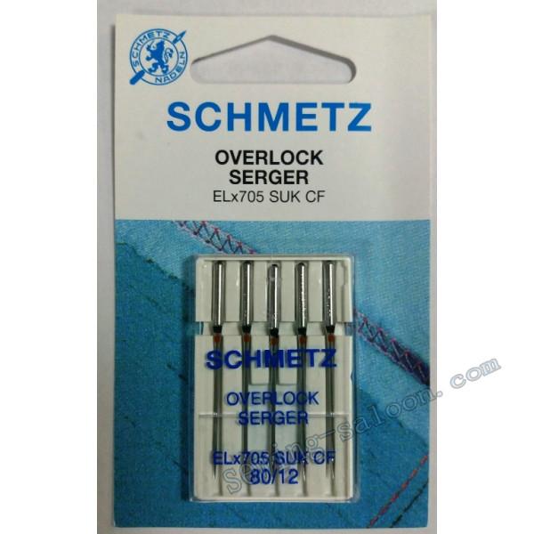Иглы Schmetz для оверлока Overlok EL*705 SUK СF №80