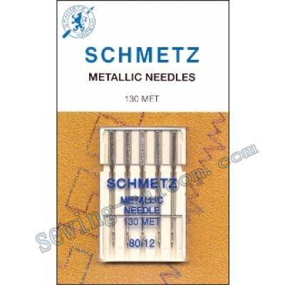 Иглы Schmetz вышивальные металлик №80