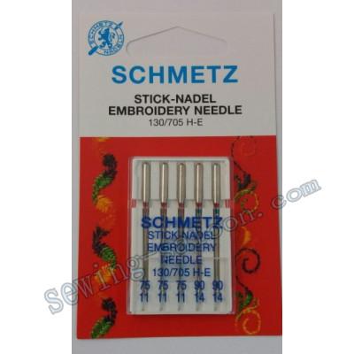 Иглы Schmetz вышивальные №75-90