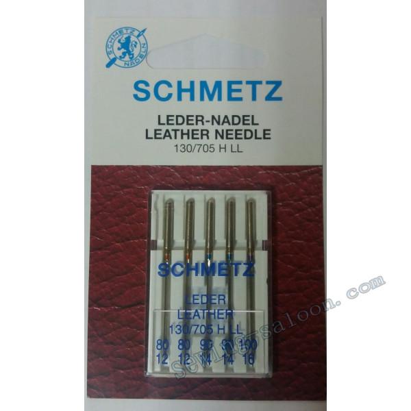 Иглы Schmetz кожа ассорти №80-100