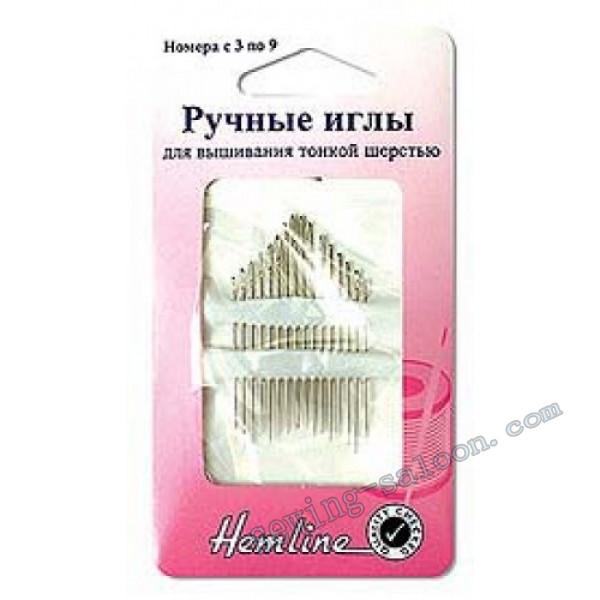 Иглы для вышивания тонкой шерстью № 3-9 (200,39)