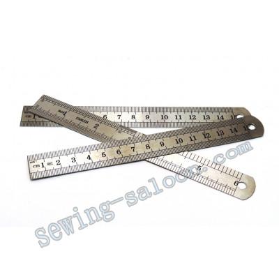 Линейка металлическая 15 см