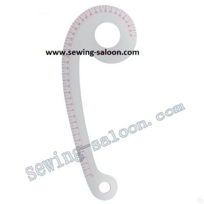 Портновское лекало №6040 для проймы (разметка до 40см)