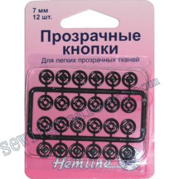 Кнопки пришивные черные  (422В)