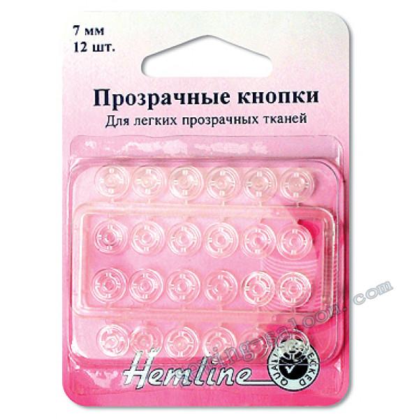 Кнопки пришивные прозрачные  (422)