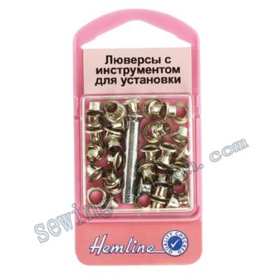 Люверсы с инструментом для установки, серебро(435 N)