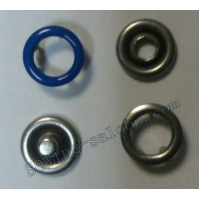 Кнопка трикотажная 9,5 мм  синяя