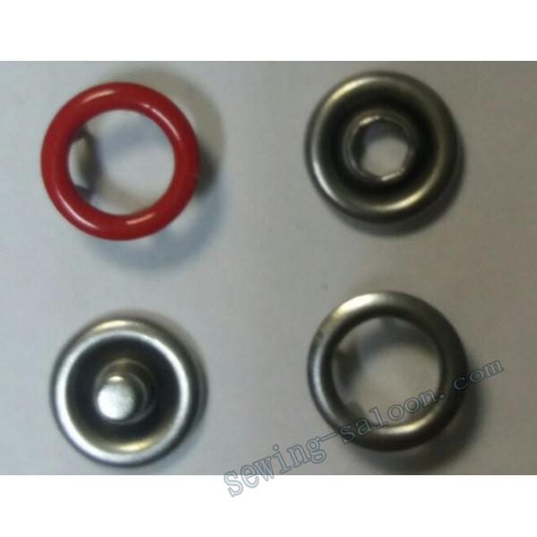 Кнопка трикотажная 9,5 мм  красная