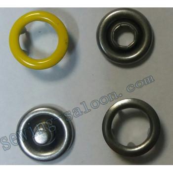 Кнопка трикотажная 9,5 мм  желтая