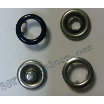 Кнопка трикотажная 9,5 мм  черная