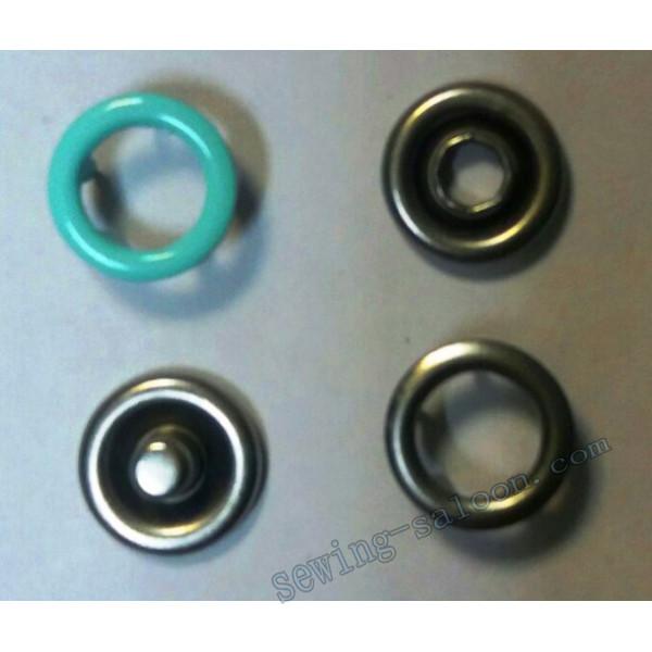 Кнопка трикотажная 9,5 мм  бирюзовая