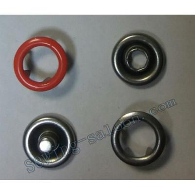 Кнопка трикотажная 9,5 мм  терракотовая