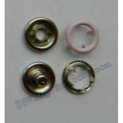 Кнопка трикотажная 9,5 мм розовая