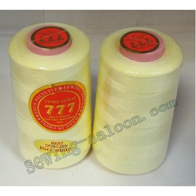 Нитки 777 40/2 цвет светло-лимонный  (121)