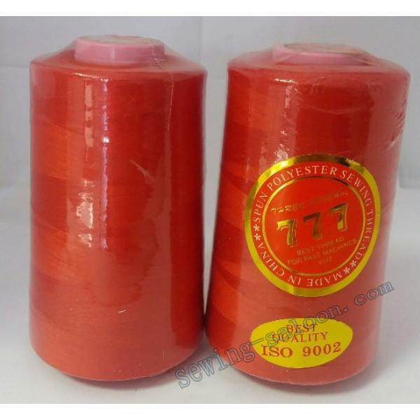 Нитки 777 40/2 цвет красный (010)