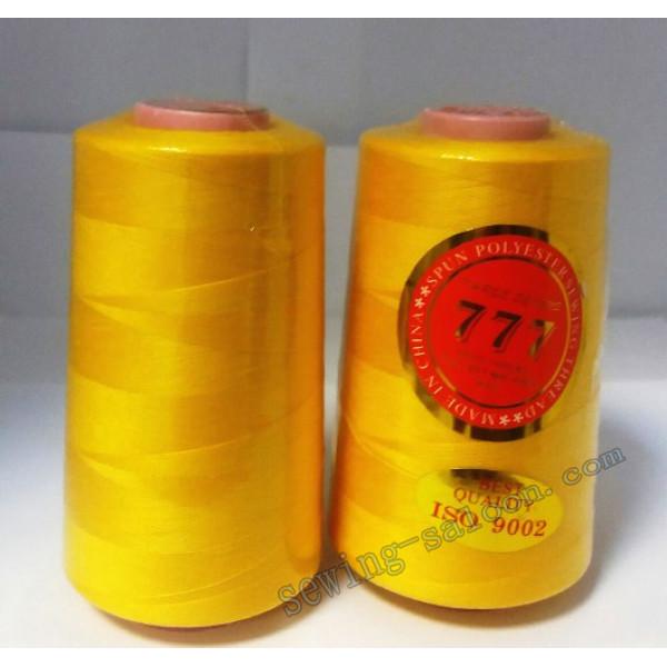Нитки 777 40/2 цвет желтый (029)