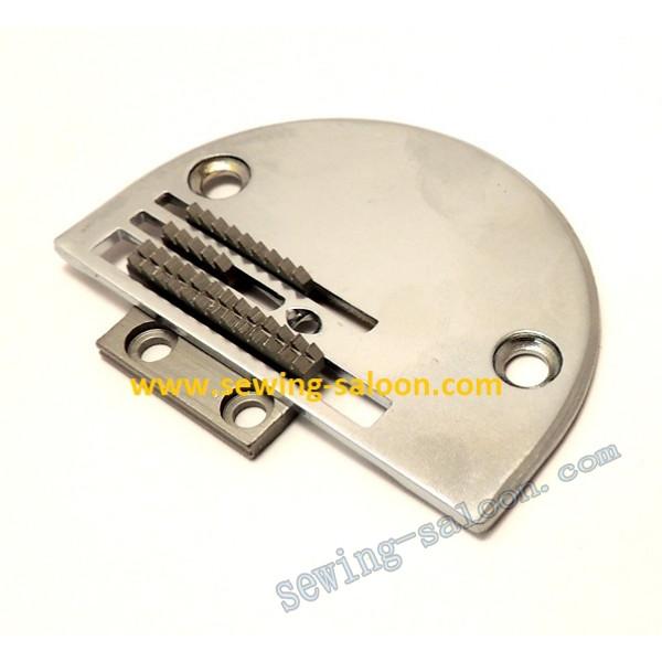 Игольная пластина и зубья для машин с двойным продвижением